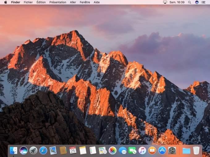 Siri MacOS Sierra bureau