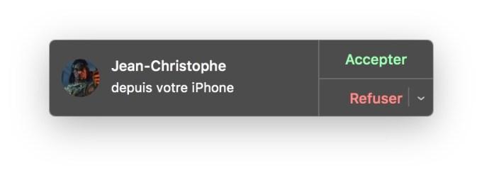 appels wifi depuis iphone sur macbook