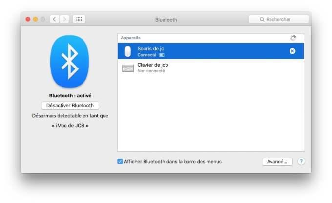 reparer le bluetooth sur mac connecte ou pas