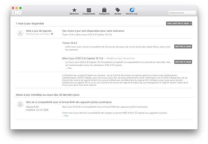 mac os x el capitan 10.11.6 app store