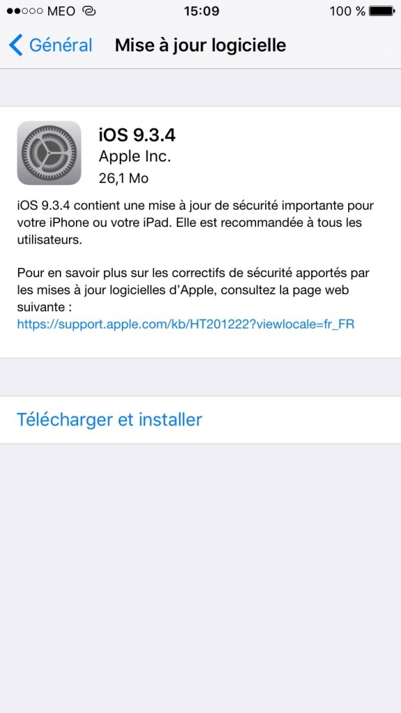 iOS 9.3.4 update iphone ipad