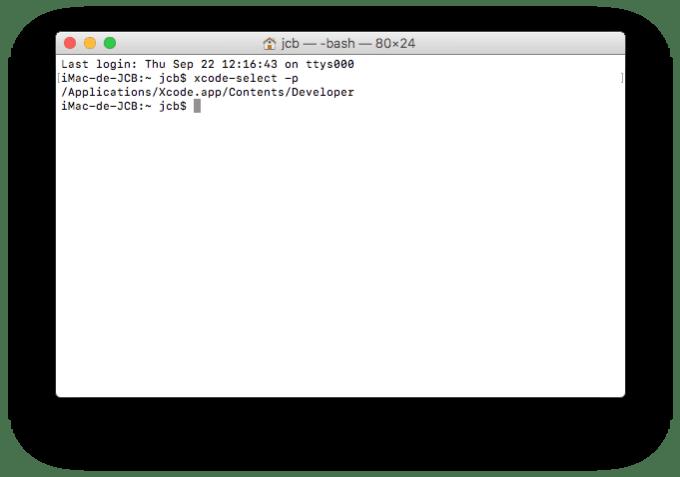 Installer XCode macOS Sierra verifier installation