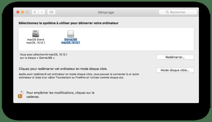 Installer macOS Sierra sur clé USB disque de démarrage