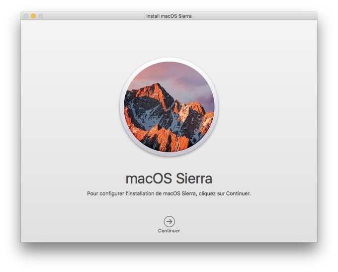 Installer macOS Sierra sur cle USB disque ssd