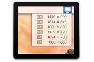 Changer la résolution d'écran de son Mac rapidement