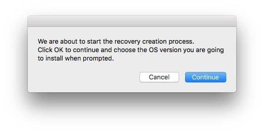 Reconstruire la partition Recovery Mac processus en cours