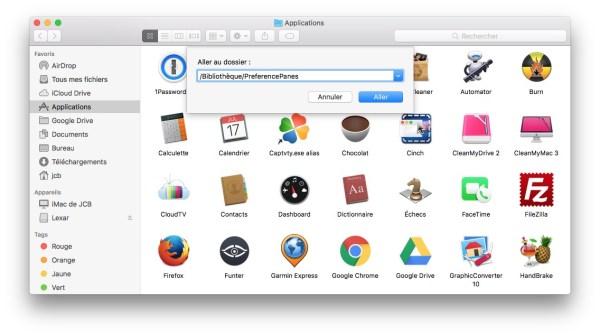 Supprimer une extension des Preferences Systeme Mac via le Finder