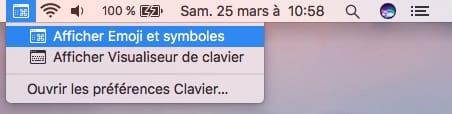 Taper les accents sur Mac emoji symboles