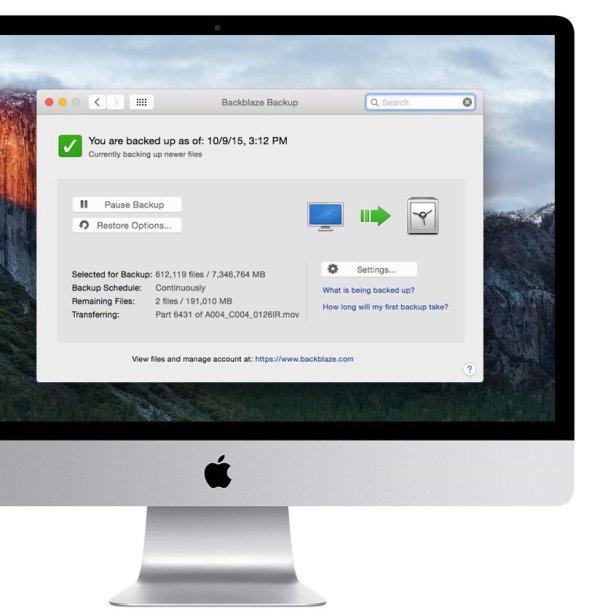 Sauvegarder son Mac dans le Cloud avec BackBlaze backup