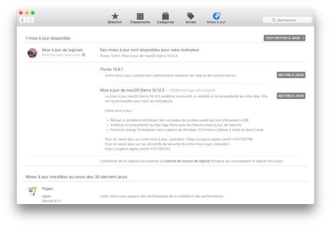 macOS 10.12.5 app store