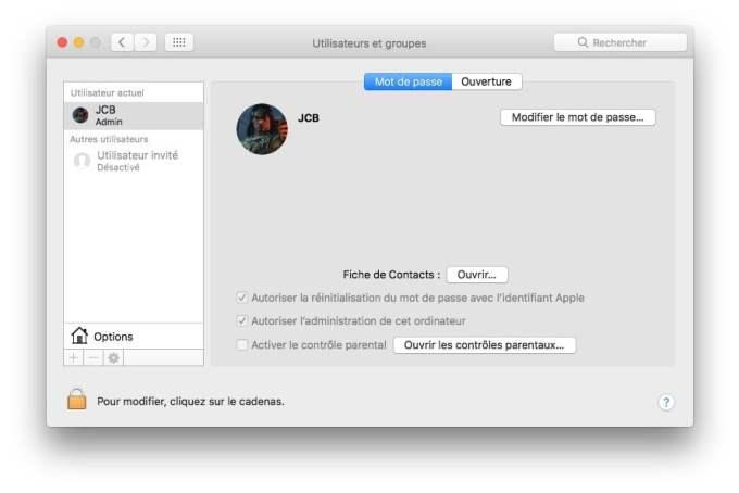 username ssh mac