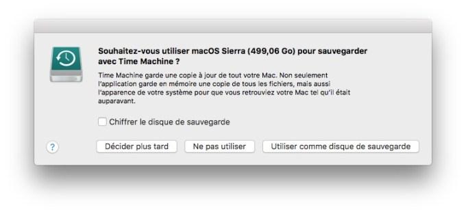 Utiliser le mode disque cible sur Mac time machine