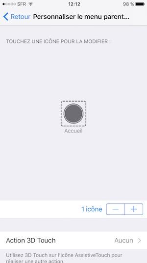 bouton home en panne sur iphone seul
