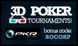 play 3D poker tournaments at PKR poker