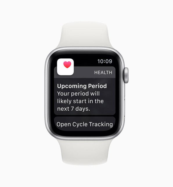 Apple Watch cycles upcoming period notification
