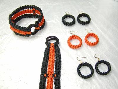 Halloween Macrame Jewelry