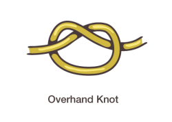 Overhand Knot for macrame