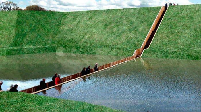 pont dans l'eau