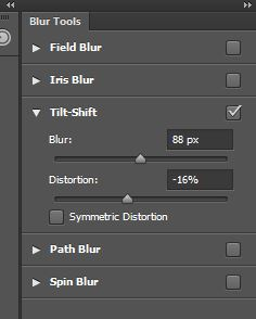 Tilt-Shift Blur Options