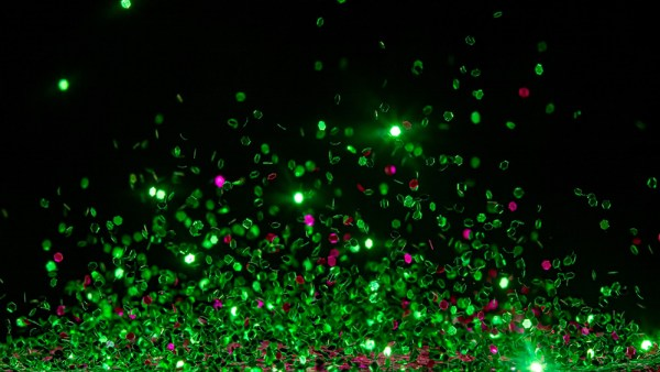 Green and Pink Glitter Explosion
