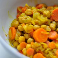 BEANS:  Chickpeas with Carrots and Onions