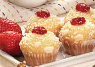 Mini muffin relleno con frutilla