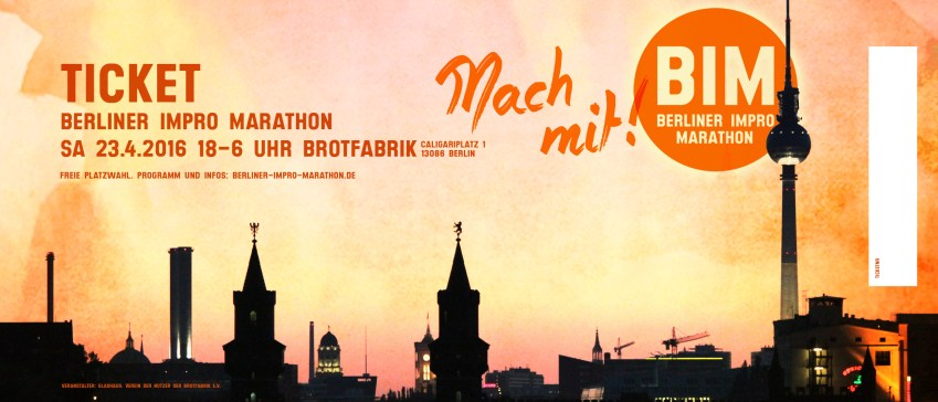 Ticket Berliner Impro Marathon