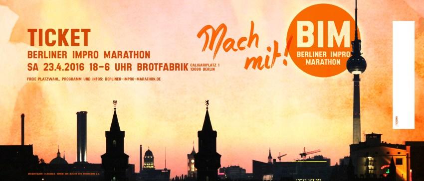 Ticket Berliner Impro Marathon