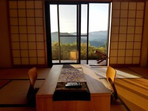Walking in Japan - A typical room in a Japanese Ryokan Accommodation