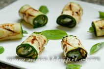 Courgette rolletjes