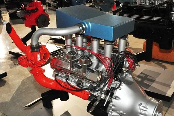 Oldsmobile 455 CID twin turbo V LR