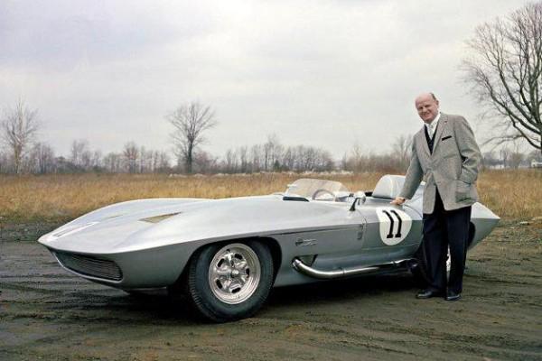 1959 Corvette Stingray with Bill Mitchell