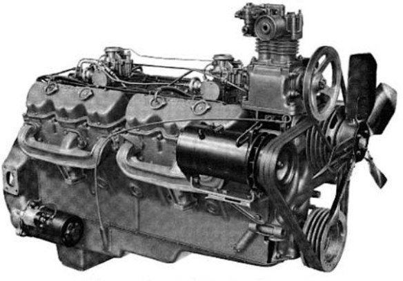 GMC Twin Six truck engine bw