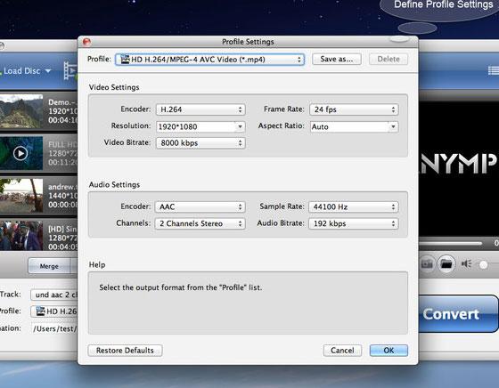 AnyMP4 MP4 Converter mac