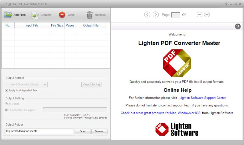 Lighten PDF Converter Master mac