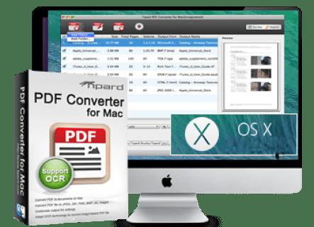 Tipard PDF Converter Platinum mac