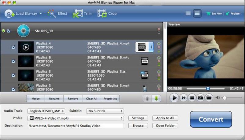 AnyMP4 Blu-ray Ripper Mac