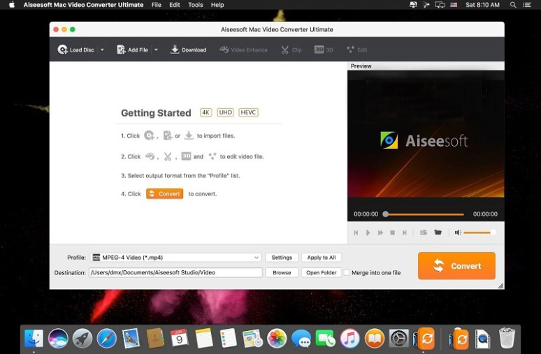 Aiseesoft Video Converter Mac