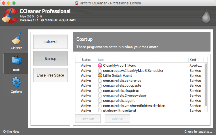 CCleaner Professional Edition for Mac