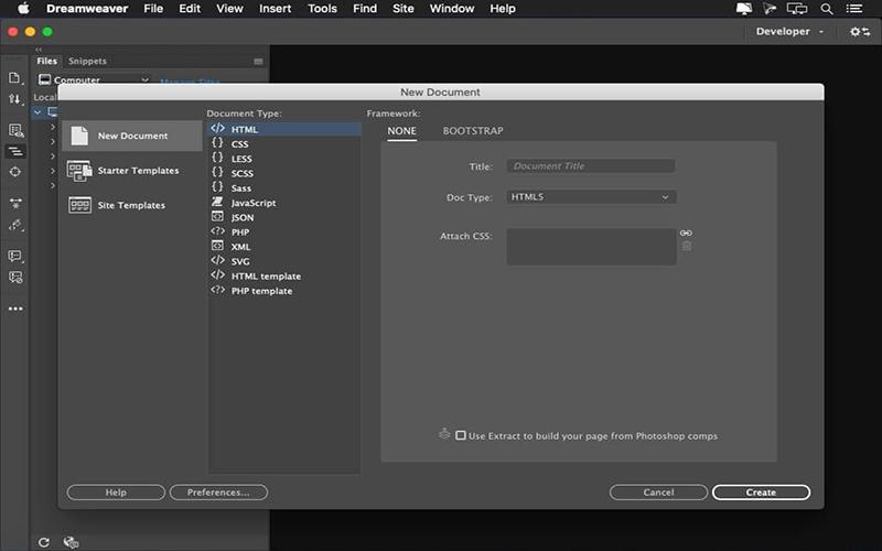 Adobe Dreamweaver Mac