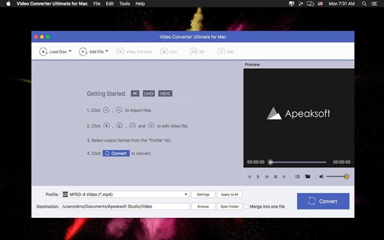 Apeaksoft Video Converter Ultimate Mac