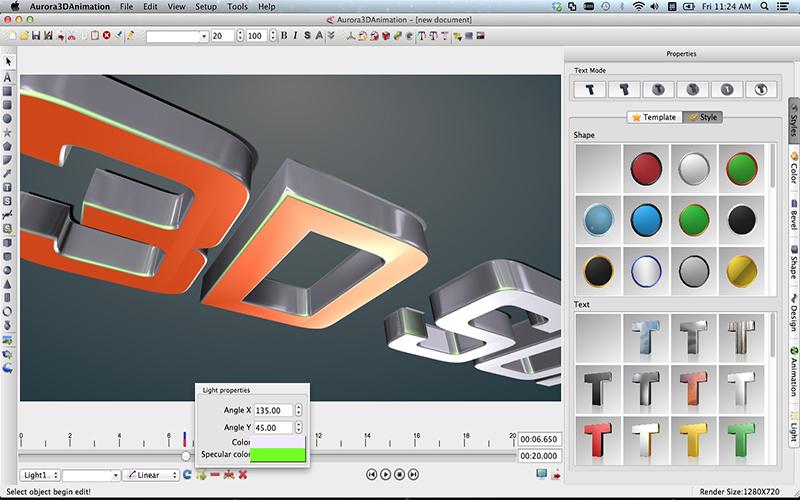 Aurora 3D Animation Maker Mac