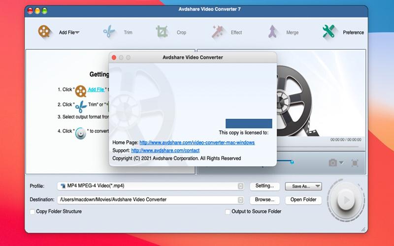 Avdshare Video Converter mac
