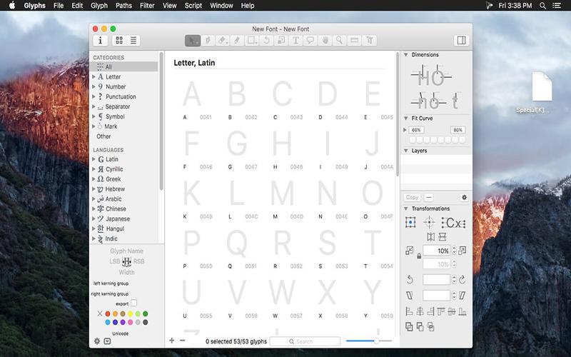 Glyphs mac free