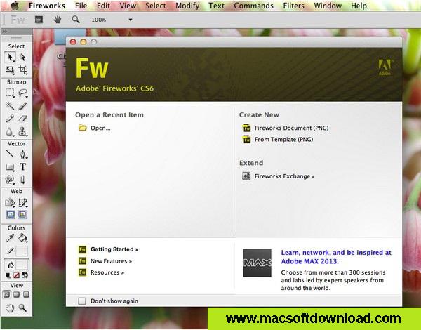 Adobe Fireworks CS6 Mac