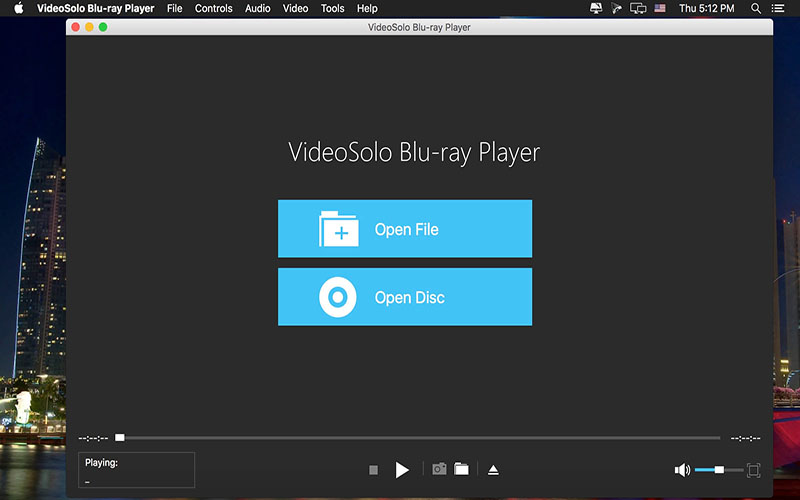 VideoSolo Blu-ray Player Mac