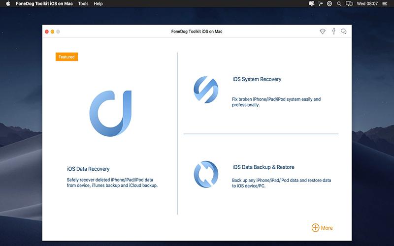FoneDog Toolkit for iOS Mac
