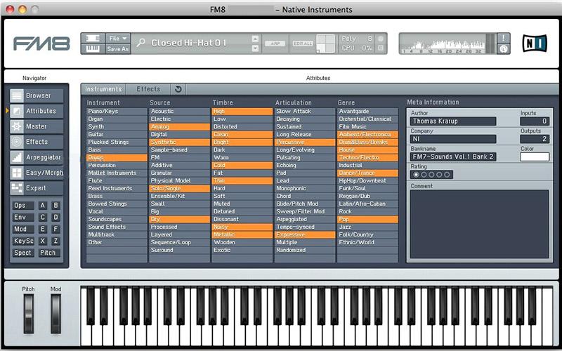 Native Instruments FM8 Mac