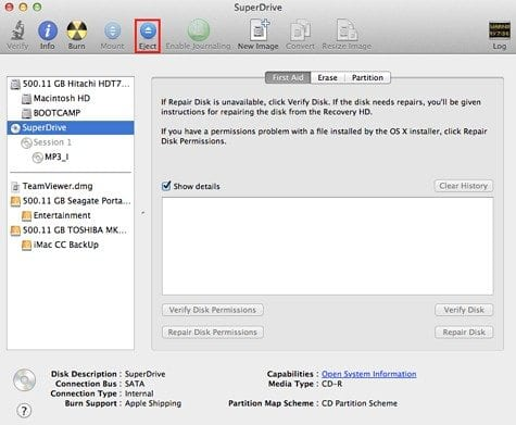 disk utility cd