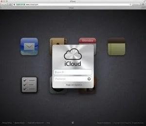 iCloud page